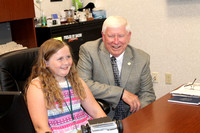 Official teaches girl about city hall job