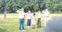 Scouts pay tribute to Old Glory