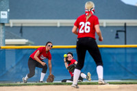 Down and nearly out, Dragons launch softball comeback