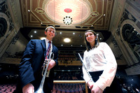 Student musicians join in professional concert