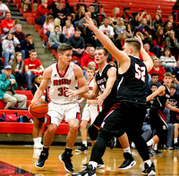 20161206dr Rushville at New Palestine Boys Basketball