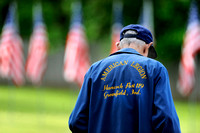 Time-honored tribute - Flags memorialize fallen troops