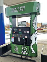 Gas station fuels school donations